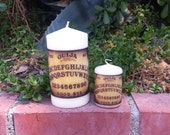 Ouija Board Pillar Candle Set