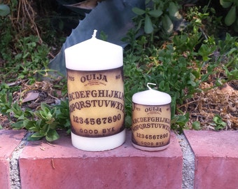 Ouija Board Pillar Candle Set