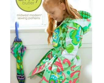 Little Splashes Hooded Raincoat - Amy Butler Sewing Pattern - SALE