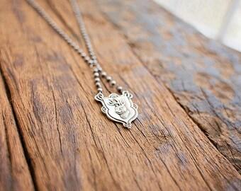 Jackalope Necklace | Sterling
