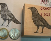 P83 Crow rubber stamp