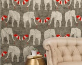 Elephant and Umbrella Tapestry