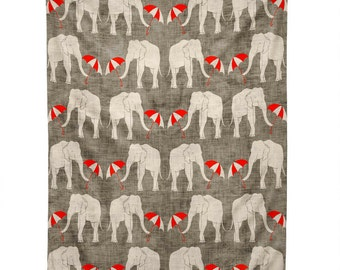 Elephant and Umbrella Tapestry