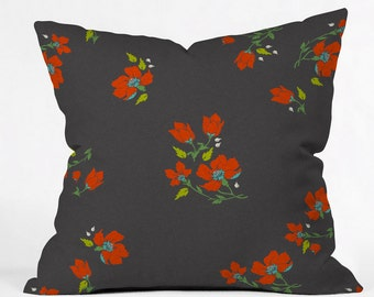 Bohemian Farmhouse Floral Throw Pillow