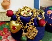 Portuguese Viana Heart charm bracelet folk