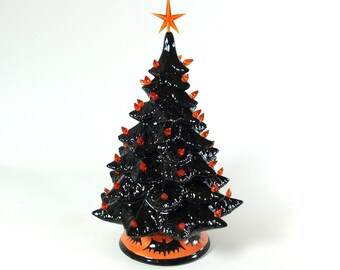 Halloween lighted Black ceramic tree Made To Order