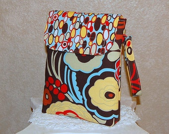 Sale - MOCCA and BANGLE DOTS - Diaper and Wipe Carrier with Snap Wristlet Strap