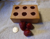 Destash .Silicone ...Strawberry  candle mold ... embeds