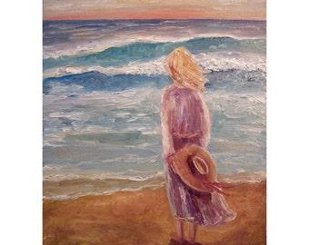 DEEP CALLS - Girl's Room - Art Print - Inspirational art - Seascape painting print