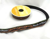 Happy Halloween Trick or Treat Ribbon - 1 Yard - DESTASH