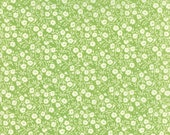 Hello Darling Fabric by Bonnie and Camille, Moda Fabric, Dainty Floral in Green, Cotton Fabric, Quilting Fabric