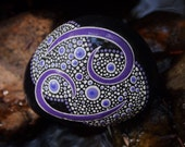 Cancer the Crab Rock / Painted Stone / Zodiac Series / Horoscope Astrology Symbol / Leslie Peery