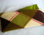 Therapy Rice Bag, Microwave Heat Pack, Rice Heating Pack, Therapy Sack, Diamonds with Avacado Green, Washable Cover,