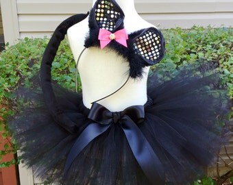 Black Cat Costume - Girl - Halloween Tutu - Available for sizes 12 months thru 5T
