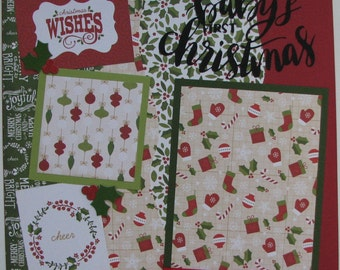 Baby's FIRST CHRISTMAS...TWO completed 12x12 Premade Scrapbook pages