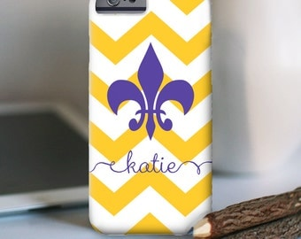 iPhone 7 Personalized Case  - Fleur de lis (LSU)  - other models available