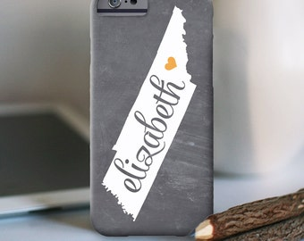 iPhone 7 Personalized Case - Tennessee chalkboard - other models available
