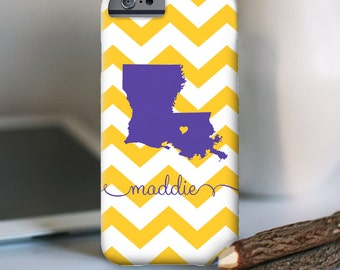iPhone 7 Personalized Case  - Louisiana Chevron  - other models available