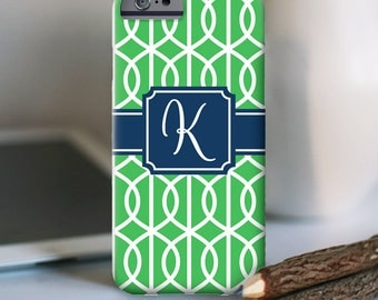 iPhone 7 Personalized Case  - Trellis monogram  - other models available