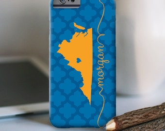 "Personalized Iphone Case, iPhone 6s and other models, ""Virginia State Love"""