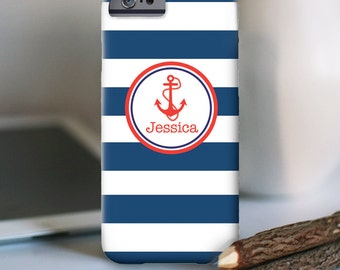 iPhone 7 Personalized Case  - Nautical Anchor design - other models available