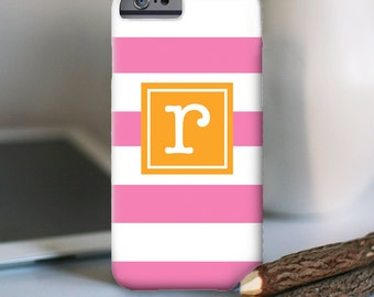 iPhone 7 Personalized Case  - Fat Stripes initial  - other models available