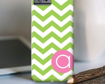 iPhone 7 Personalized Case  - Chevron with initial  - other models available
