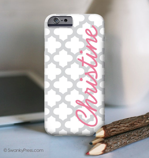 Personalized iPhone 6s case . Also available in other models - Quatrefoil Design