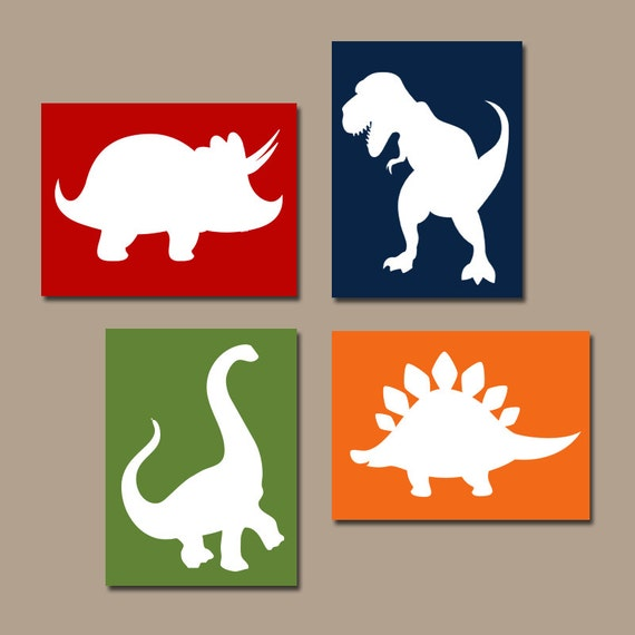 Wall Art Canvas Or Prints Baby Boy DINOSAUR Nursery Artwork Big Boy