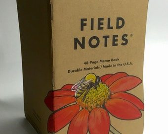 Altered Field Notes - Dahlia with Bee