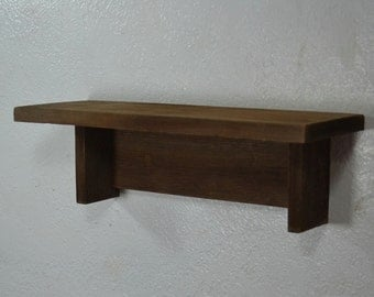 """Small wall shelf from reclaimed wood 15"""" wide 5"""" deep simple rustic home decor"""