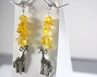 Sunny Giraffe Earrings