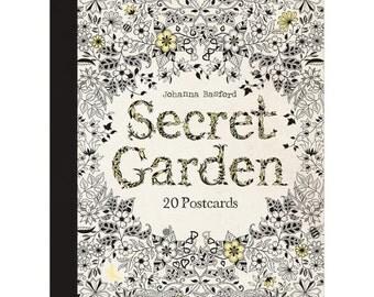 Secret Garden Post Cards Coloring Book • Chronicle Books Postcard Coloring Book • Secret Garden Postcards Colouring Book (CH-69946)