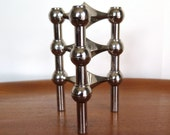 Nagel Stackable Chrome Candle holder Candelabra Mid Century Chrome Candlestick