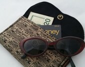 Old School 80's cassette Fabric Wallet Snap Case 1/2 OFF SALE