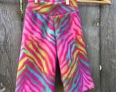 Pink Animal Print Anti Pill Fleece Yoga Pants