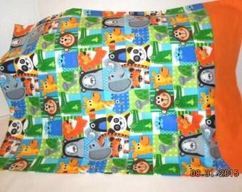 SALE   --- Animals Flannel Pillowcase