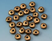 Brass Ox 5MM Nugget Heishi Spacer Bead, TierraCast Pewter  25 Pc. TB44