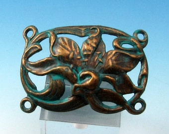 Lily Bracelet Link, Vintage Blue, Trinity Brass, VB3