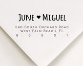 Address Stamp With Heart - Gift For Her - June Hearts Miguel Design