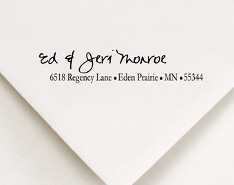Address Stamp - Just Because Gift, Wedding, Housewarming - Ed and Jeri design