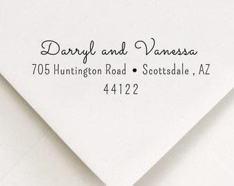 Modern Script Return Address -  Stamp - Darryl and Vanessa Design