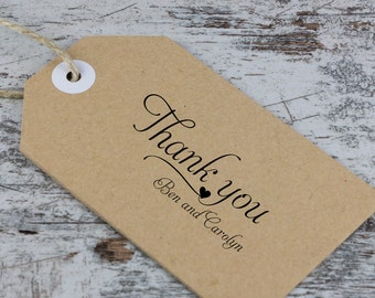 Wedding Thank You Stamp - Stamp your Favors or inside Thank You Notes - Ben and Carolyn Design