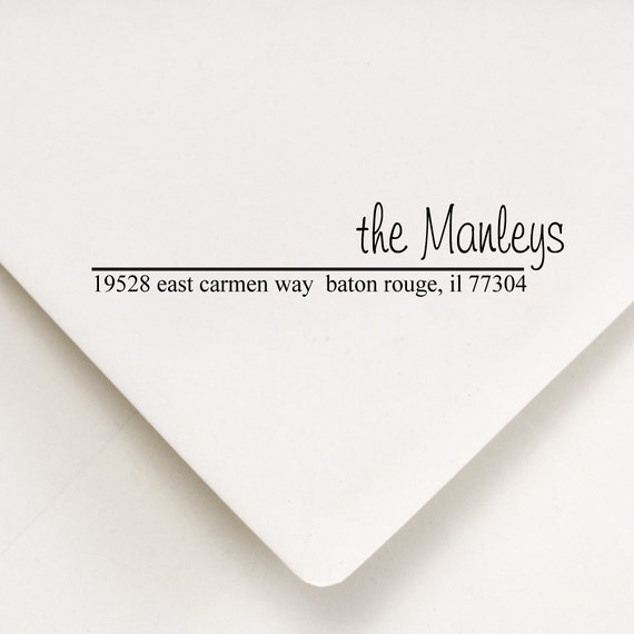 Return Address Stamp - Custom   - Thank you gift, Housewarming, Save The Date - The Manley's Design