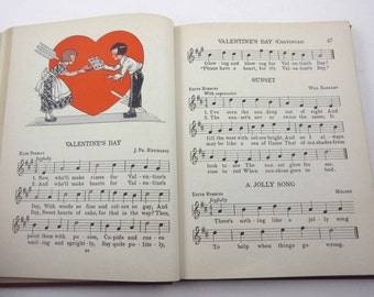 Adventures in Music Vintage 1930s Children's School Song Book of Music by Ginn and Co.