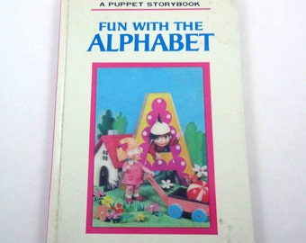 Fun with the Alphabet Vintage 1960s Children's Puppet Storybook Printed in Japan