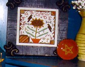 Redware Sunflower - cross stitch PAPER PATTERN - from ©Notforgotten Farm