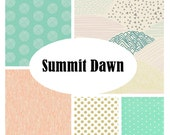 Custom Crib Bedding-SUMMIT DAWN
