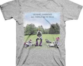 George Harrison All Things Must Pass Shirt  Sizes L  XL   Beatles  mens tshirt  music  fab four