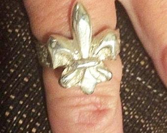 Precious metal clay Fleur De Lis ring